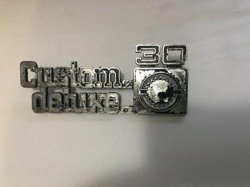 Chevrolet C30 Custom Deluxe 10 Emblem 349684 Squarebody Pickup 75-80