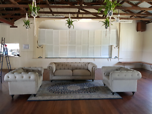 Linen Chesterfield Suite Chermside Brisbane North East Preview