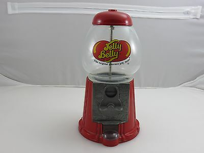 Jelly Belly Mini Candy Bean Machine Dispenser Bank Die-Cast Metal Glass Globe