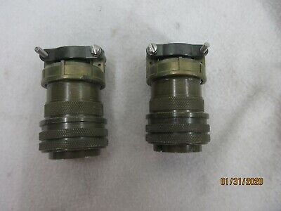 Amphenol Connectors 24-12s And 24-12pf Set Of 2
