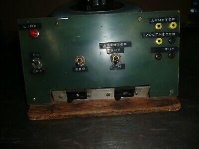 Variac Powerstat Tested Type 246 Input 240v Output 0-280v