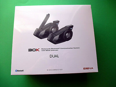 Sena 30K Dual Motorcycle Helmet Headset Intercom Bluetooth Pack