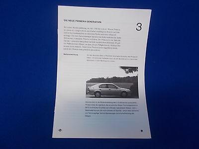 663) Pressemappe Presseinformation NISSA Primera 1994