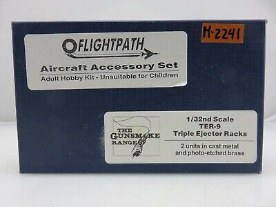 Flightpath TER-9 TRIPLE EJECTOR RACKS 1/32 Scale Cast Metal & Photo-Etched Parts for sale  Lake Hughes