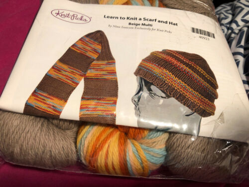 Learn to Knit a Scarf and Hat Kit