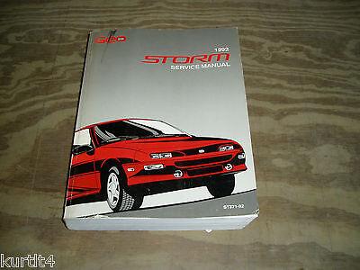 1992 Geo Chevrolet Storm Service Shop Dealer Repair Manual