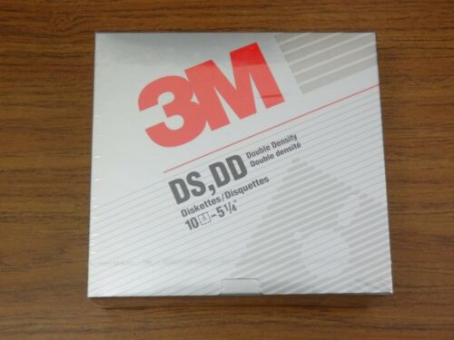 """3M 5.25"""" DS DD Double Sided Double Density Floppy Disk *Sealed* 5 1/4 inch"""