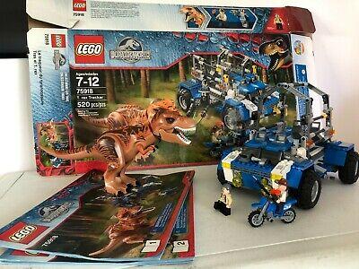Lego Jurassic World 75918 T-Rex Tracker 100% Complete - Excellent Condition
