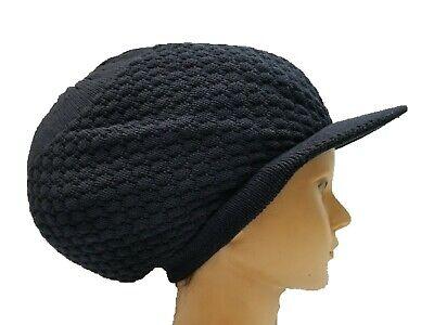 Rasta Dreads Hat (Navy Blue Rasta Hat Jamaica Dreadlocks Tam Crown Dreads Natty Cap Locks M/L)