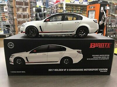 HOLDEN VF COMMODORE MOTORSPORT EDITION 2017 HERON WHITE 1:18 DIE CAST SCALE MODE