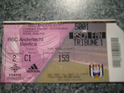 Ticket: Anderlecht - Benfica Lisbonne UEFA (24-8-04)