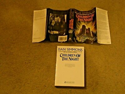 Used, DAN SIMMONS: CHILDREN OF THE NIGHT UK UNCORRECTED PROOF SIGNED AUTHOR & ARTIST for sale  Shipping to South Africa