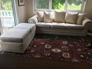 Beautiful Three Seat Sofa + Ottoman Moss Vale Bowral Area Preview