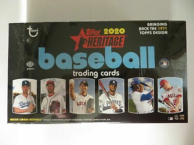 2020 TOPPS HERITAGE  BASEBALL FACTORY SEALED HOBBY BOX  FRESH CASE FREE SHIP
