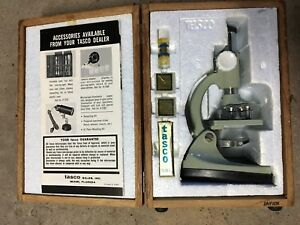Tasco High Quality Microscope 1966