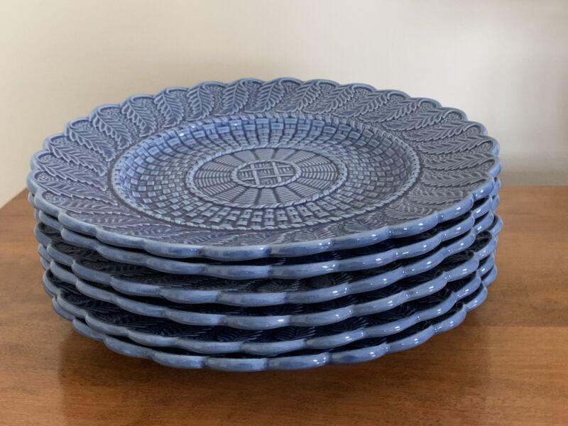 Bordallo Pinheiro Blue Dinner Plates - Set Of 6