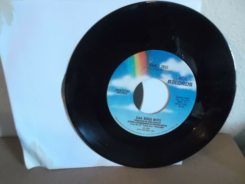 OAK RIDGE BOYS MCA 45 Record MCA-51169 How Long Has It Been & Fancy Free 1981