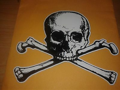 Skull and Cross Bones Poison Danger Pirate Halloween jdm Vinyl Decal - Skull And Bones Halloween