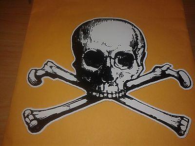 Halloween Skulls And Bones (Skull and Cross Bones Poison Danger Pirate Halloween jdm Vinyl Decal)