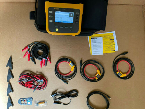 New Fluke 1730 Three-Phase Power Logger w/ 3x 1500A iFlex Current Probes & more