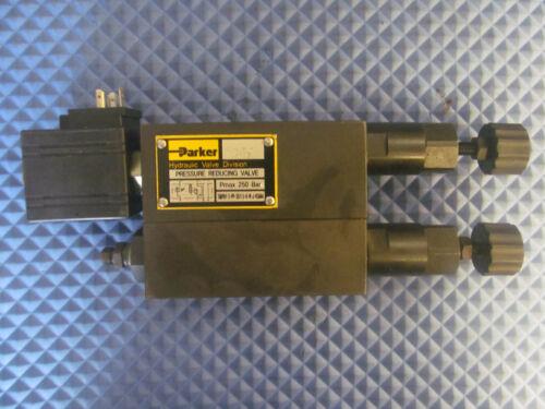 NOS Parker Pressure Reducing Valve TMPRV-3-PP-35/1.5-K-N-J-K5844 250Bar 24V