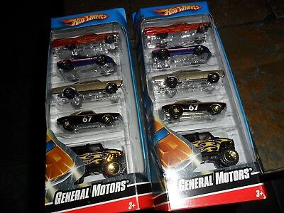 2 LOT HOT WHEELS 2008 GENERAL MOTORS 5 PACK 1967 CAMARO CADDY GTO HUMMER IN BOX for sale  Shipping to Canada