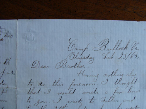 17th Maine Infantry 4 Page Letter Feb 25, 1864