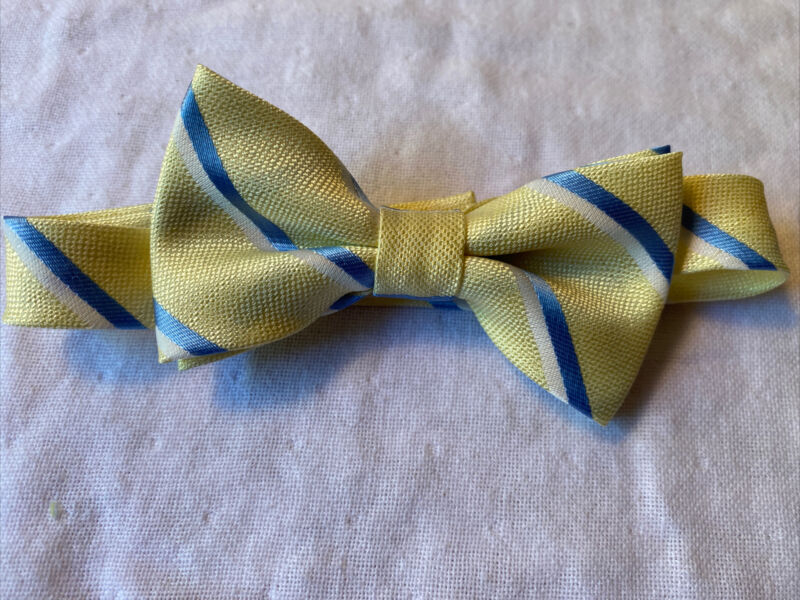 Toddler Boy Yellow and Blue Bow Tie NWOT