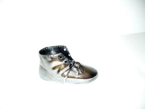 Antique Gorham Silver Plate Baby Shoe Victorian Vintage Figural