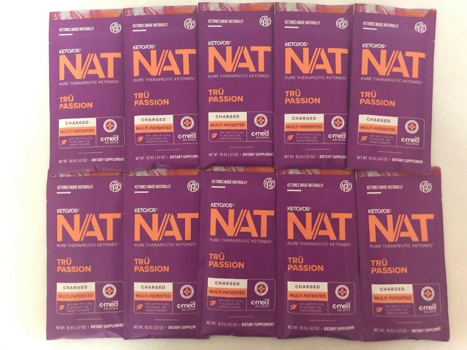 Pruvit Keto OS NAT Tru Passion 5, 10 & 20 Packs Free Shipping!