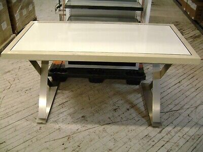 White Pearl Farm Table X Shaped Leg Shabby Chic Table Retail Display Table