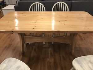 Antique Solid Pine Harvest / Dining Table