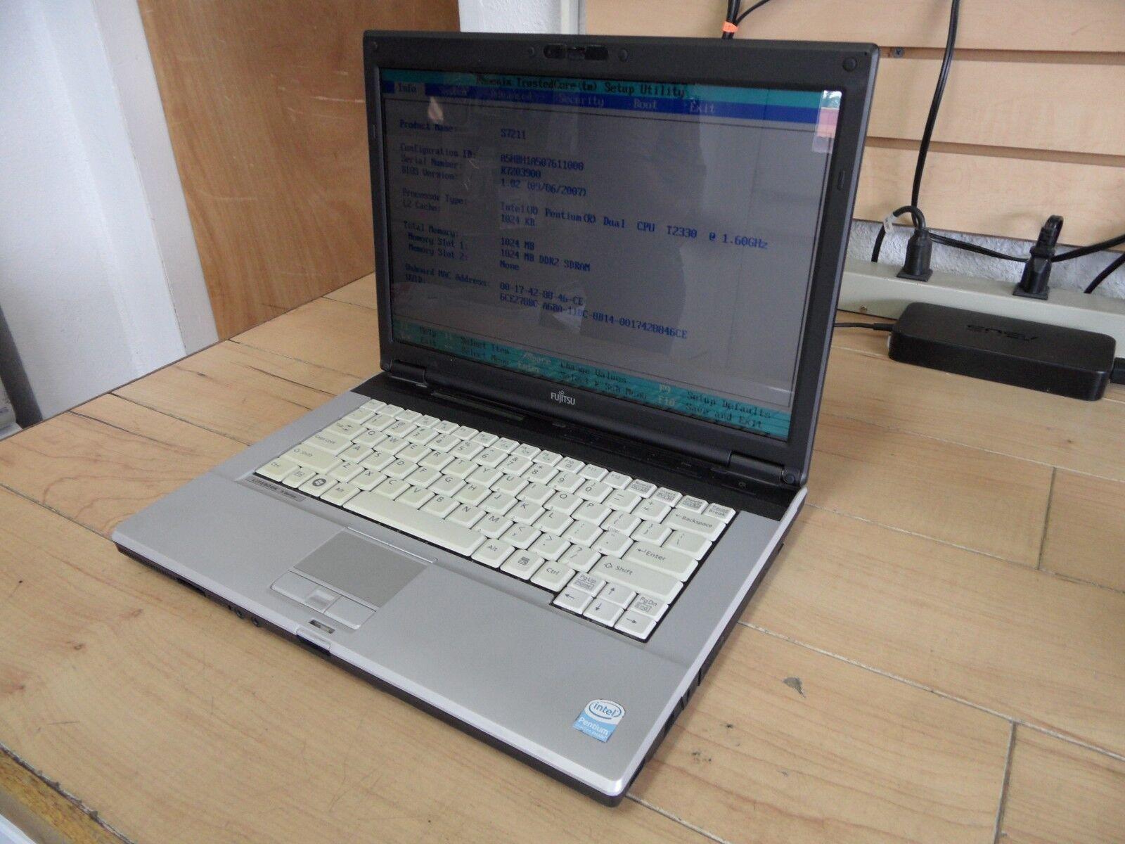 Fujitsu Lifebook S Series S7211 Laptop For Parts Posted Bios No Hard Drive *