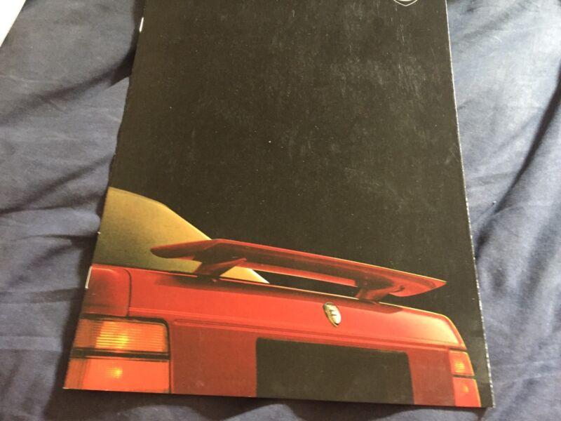 1988 Lancia Thema 8.32 Ferrari V8 large Prestige Color Brochure Prospekt