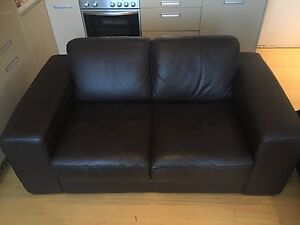 2 seater brown leather Plush lounge Elizabeth Bay Inner Sydney Preview