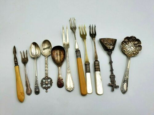 Antique Vintage Silver Plated Assorted Cutlery