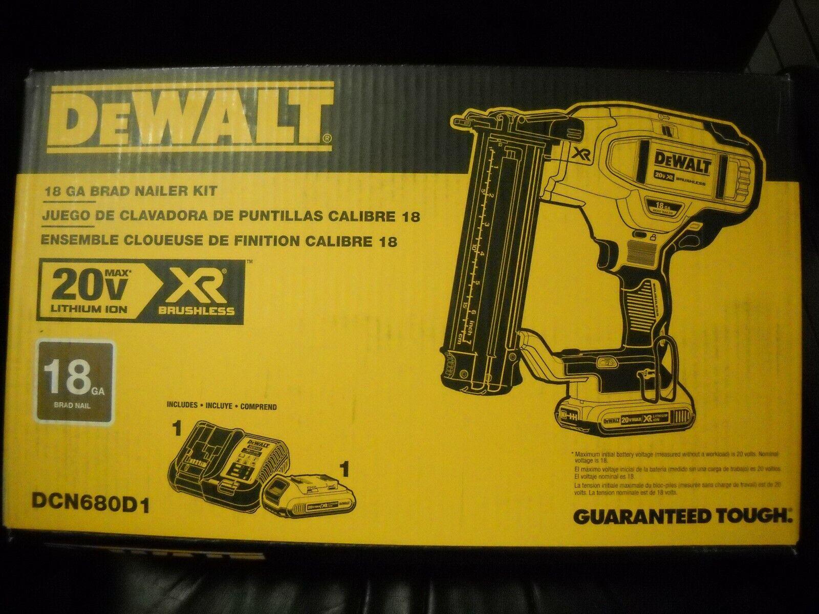 DeWALT DCN680D1 20-Volt 18-Gauge Micro Nose Cordless Brad Na