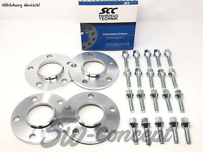 40mm 2x20mm SCC Spurverbreiterung BMW 5x120 74,1 X5 X6 Radschrauben BlackLine