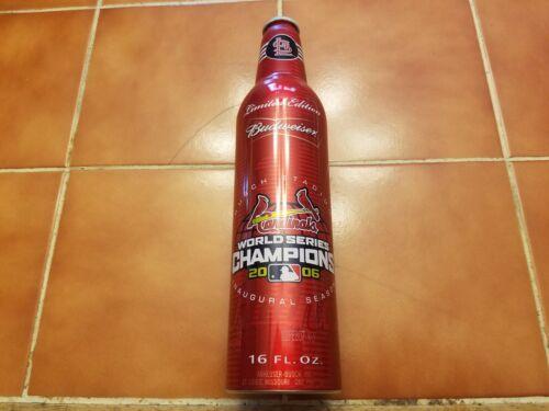 Budweiser 2006 World Series Champions St. Louis Cardinals aluminum beer bottle
