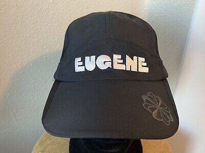 NIKE FIT DRY DRI-FIT WOMENS BLACK RUNNING HAT CAP EUGENE 2012 OSFA EUC