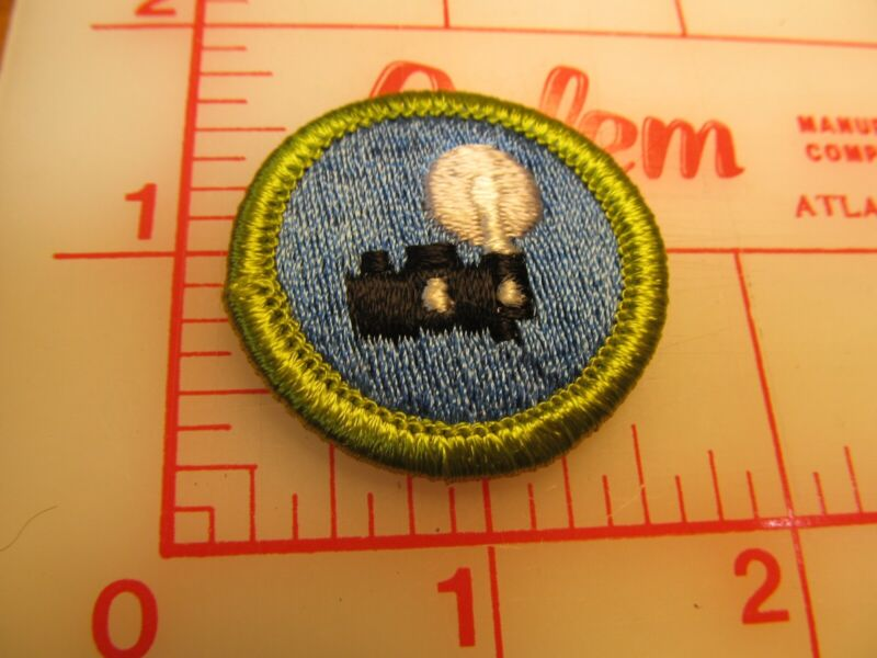 PHOTOGRAPHY merit badge plastic backed patch (oP)