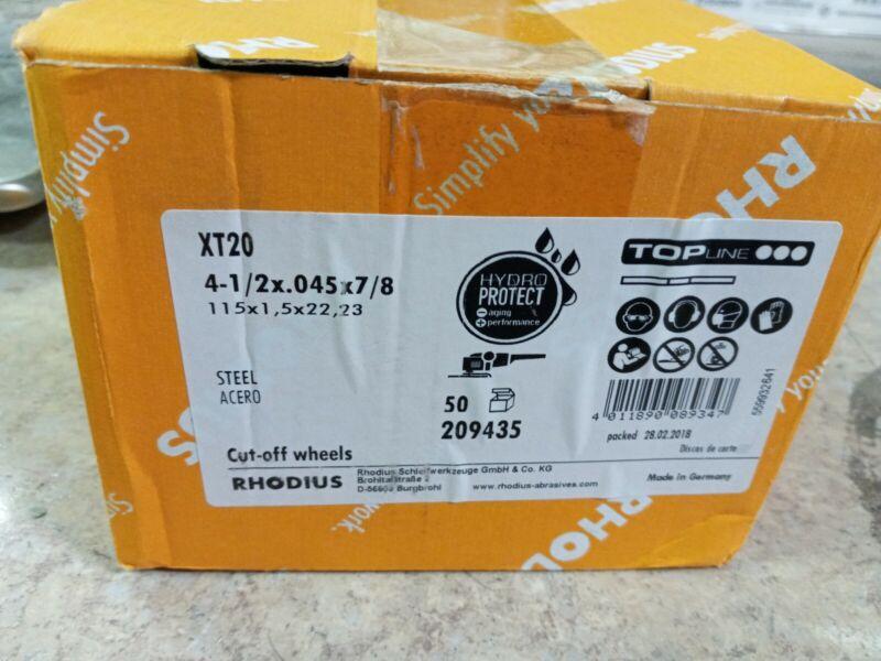 Rhodius 4-1/2 Inch Cut Off Wheels Box Of 50