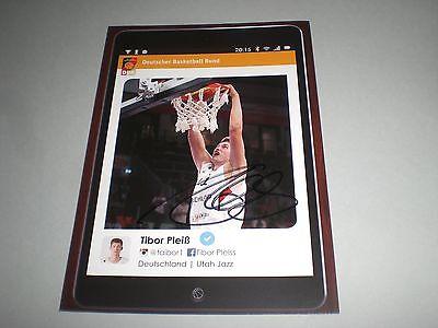 Tibor Pleiß  Basketball signed signiert autograph Autogramm auf Autogrammkarte