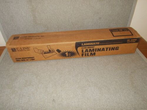 "C-Line 65050 Heavyweight Clear Adheer Laminating Film 24"" x 600"" (50"