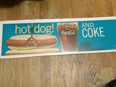 COCA-COLA HOT DOG CARDBOARD SIGN
