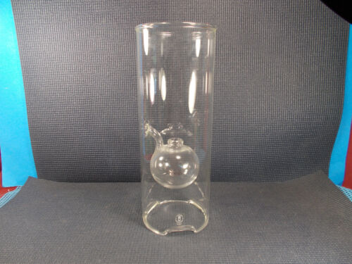 """Nice Wolfard Blown Glass Oil Lamp ( no wick ) 11 3/4"""" Tall"""