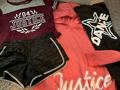 Justice Girls Clothing Lot Size 10/12 Hoodie Leggings Shorts