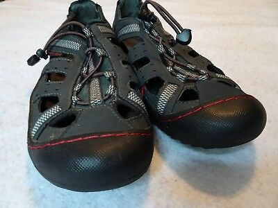 J-41 Groove II 2 Sandals Black Red Gray Size 8 Men's Outdoors Hiking Water Ready