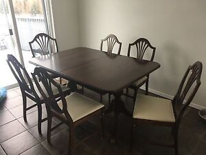 Antique dinning table & chairs