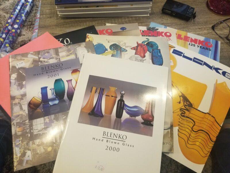 Blenko 9 pc.reference group- 1970 catalog, Advertisement monograph, catalogs etc